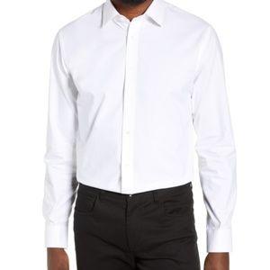 Nordstom Techsmart Trim fit White Dress shirt